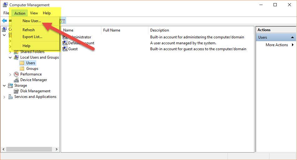 Windows 10 create add user account 007