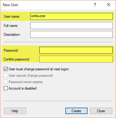 Windows 10 create add user account 009