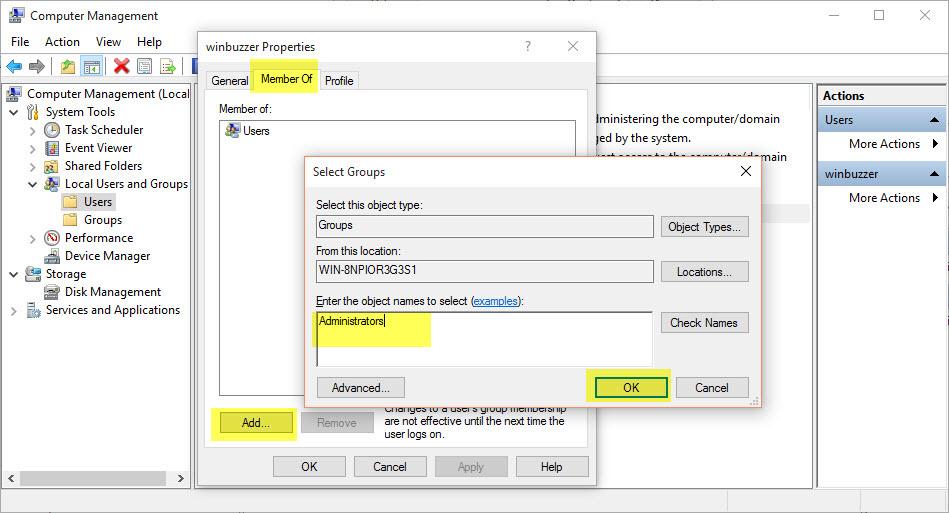Windows 10 create add user account 012