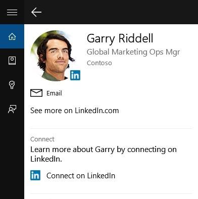 Cortana Linkedin connection official Microsoft