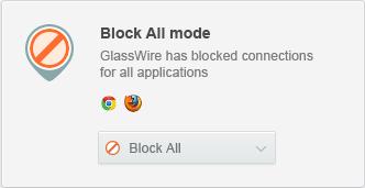 GlassWire - Lock Down Mode