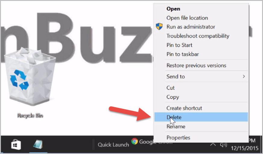 How to pin the Windows 10 recycle bin to the taskbar (6)