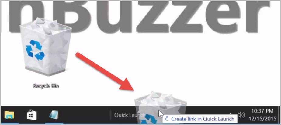How to pin the Windows 10 recycle bin to the taskbar (7)