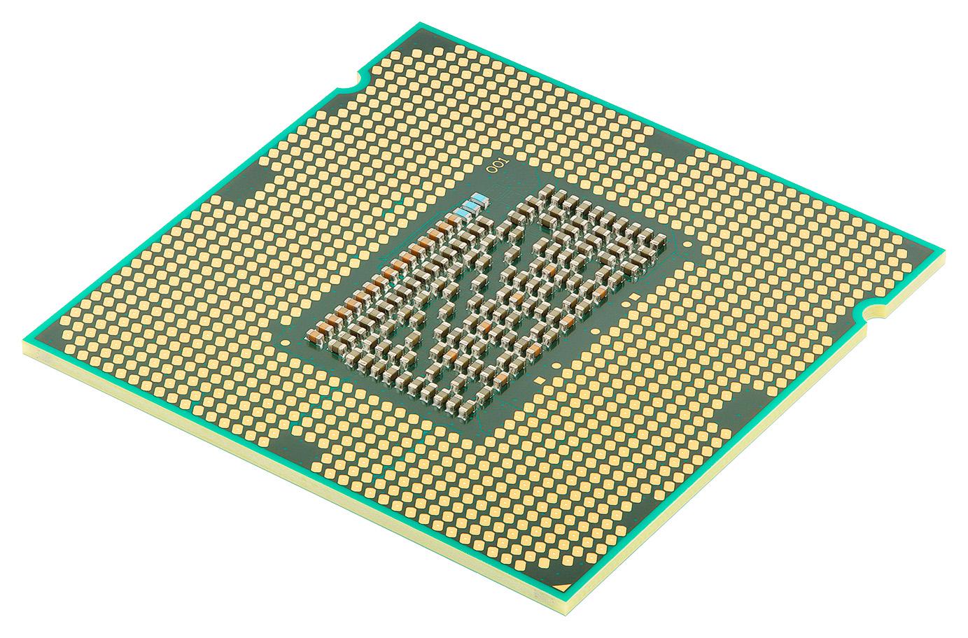 Intel Core i7 2600K CPU bottom view