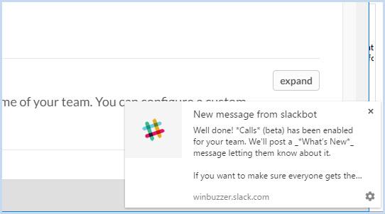 Slack calls setting own- 3