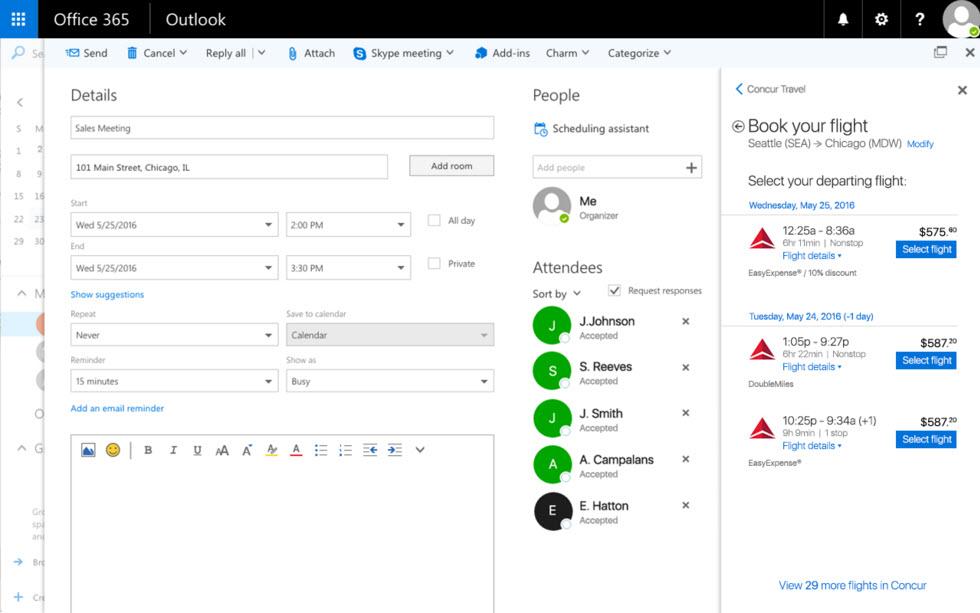 Concur Office 365 integration official Concur (1)