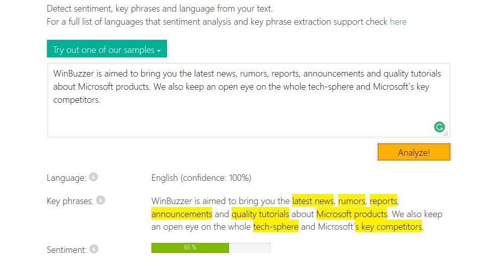 Text-Analytics-Microsoft